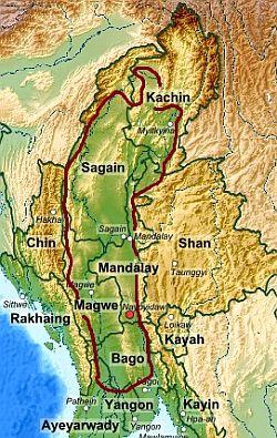 Birmanie Carte Regions.Climat Birmanie Temperature Precipitations Quand Partir Que