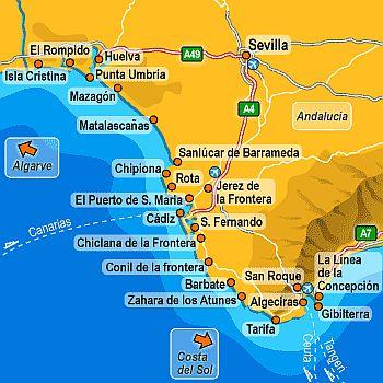 Carte Andalousie Islantilla.Climat Costa De La Luz Temperature Precipitations Quand