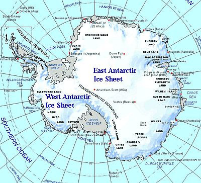 Carte - Antarctique