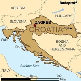 Carte Cote Croatie.Climat Croatie Temperature Precipitations Quand Partir Que