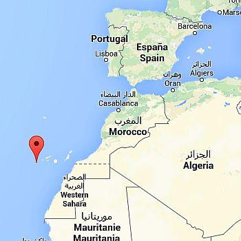 iles des canaries carte du monde