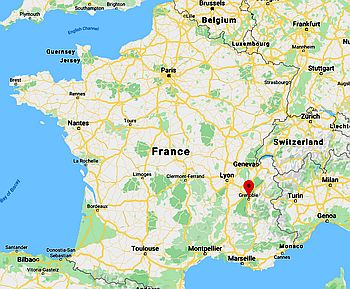 Grenoble carte de France