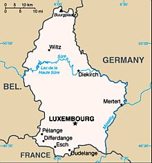 Carte - Luxembourg