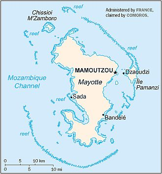 Carte - Mayotte