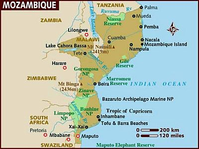 Carte - Mozambique