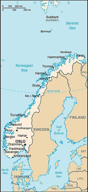 Climat Norvege: température, précipitations, quand partir ...
