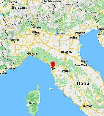 Carte Italie pise