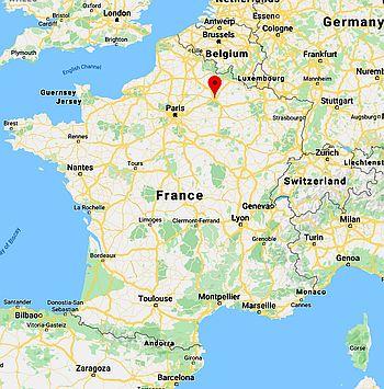 Reims sur la carte de France Archives - Voyages - Cartes
