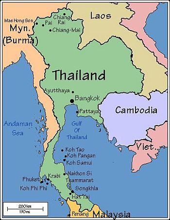 Carte Thailande Sud Ouest.Climat Thailande Temperature Precipitations Quand Partir