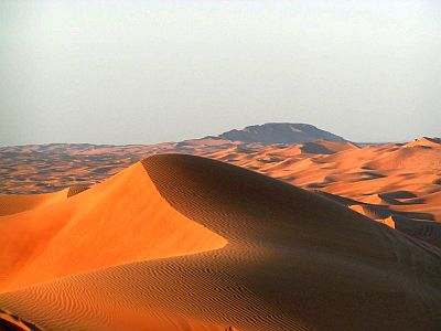 Dunes de sable, Emirates Arabes Unis